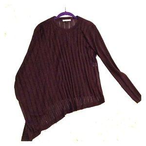 Halston asymmetrical sweater one shoulder XS cape
